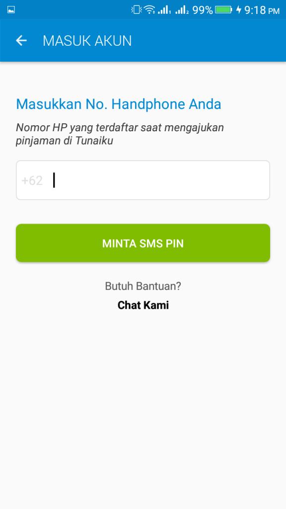 ScreenShot of Tunaiku App