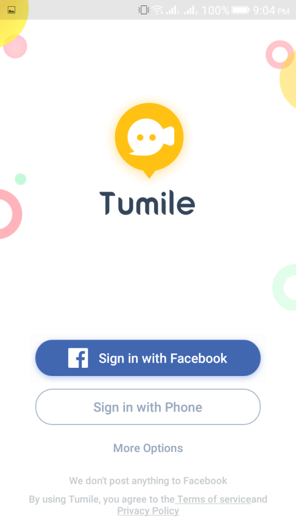 ScreenShot of Tumile App