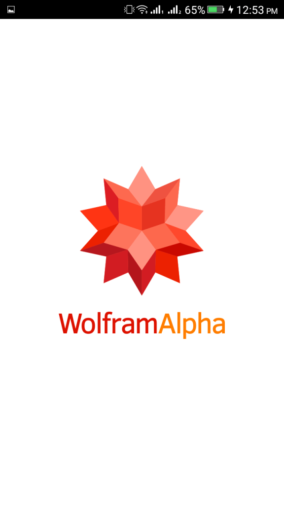 Screenshot of Wolfram Alpha
