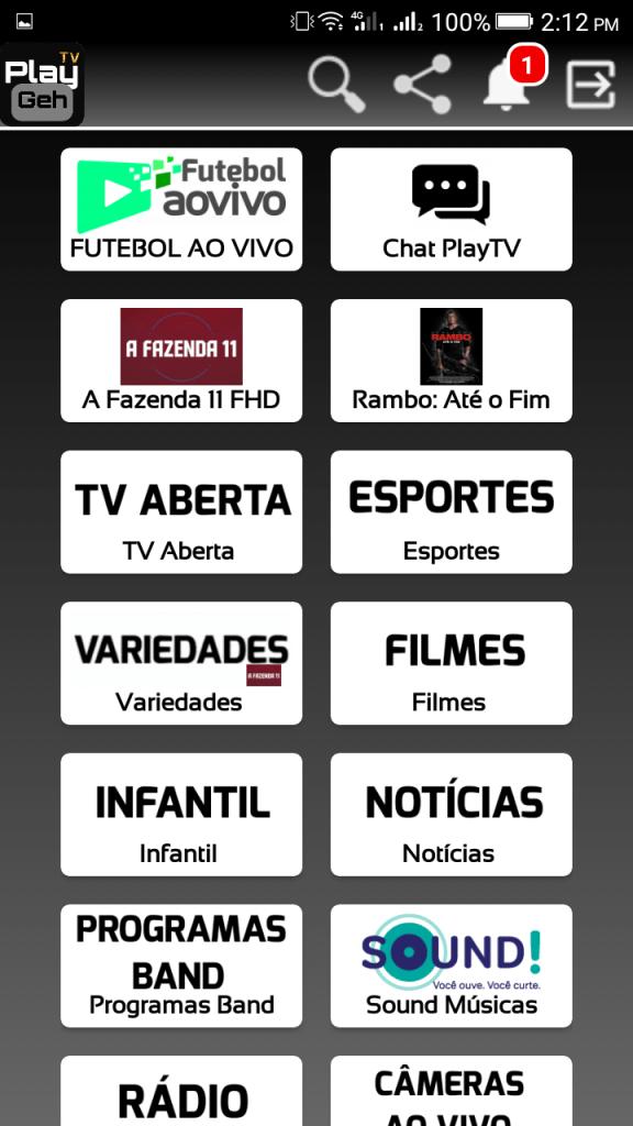 Screenshot of Play Geh Tv App