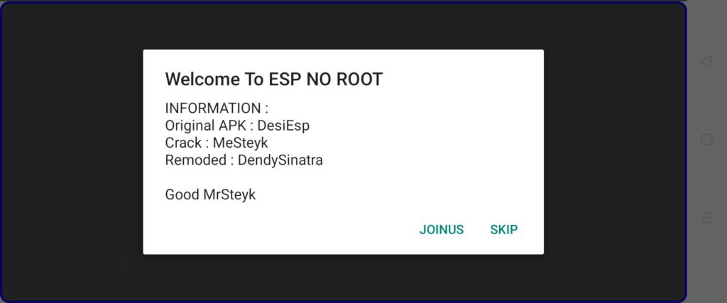 Screenshot of No Root ESP Apk