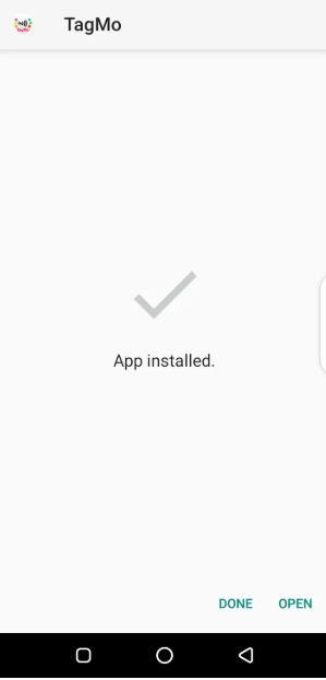 Screenshot of TagMo App
