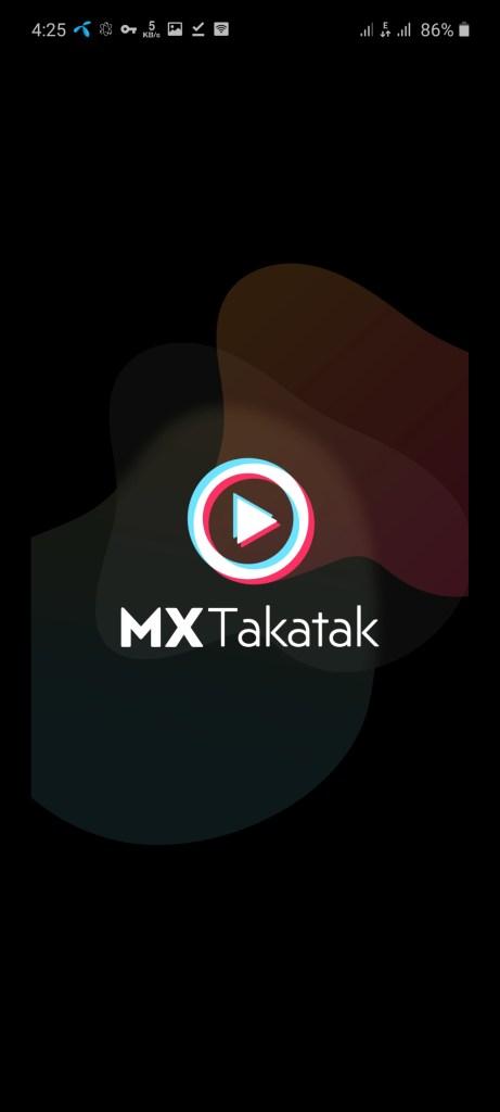 Screenshot of MX Takatak App