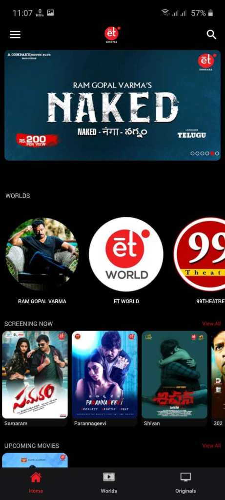 Screenshot of Shreyas Et App