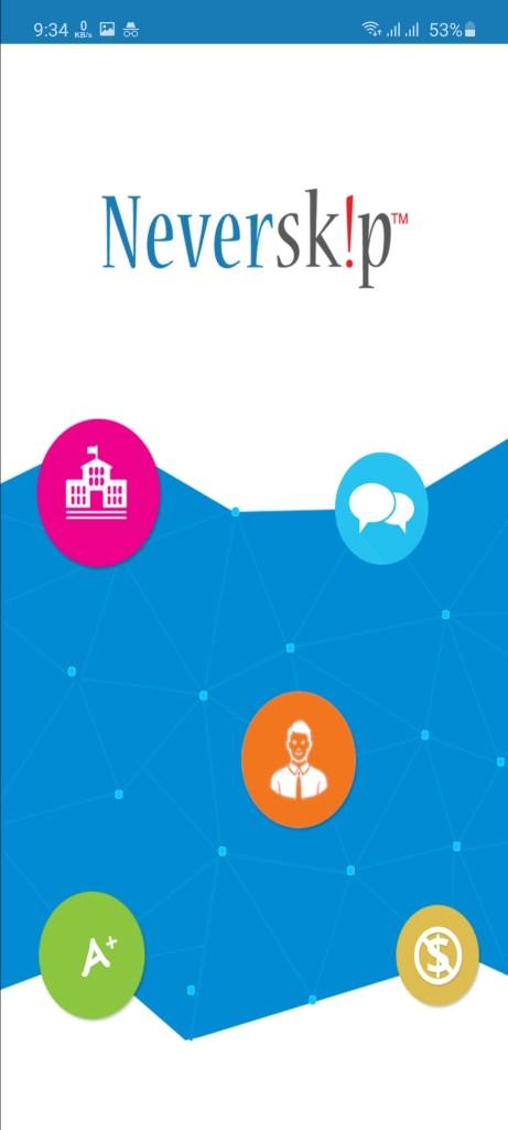 Screenshot of NeverSkip Parent Portal