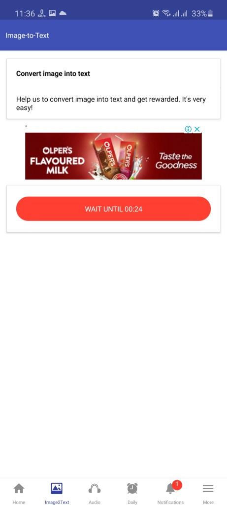 Screenshot of TypeSplash App