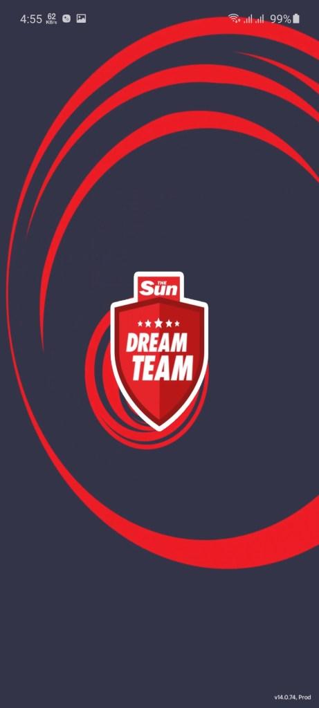 Screenshot of Sun Dream Team App