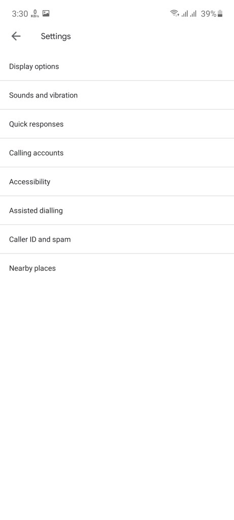 Screenshot of Verified Calls By Google App