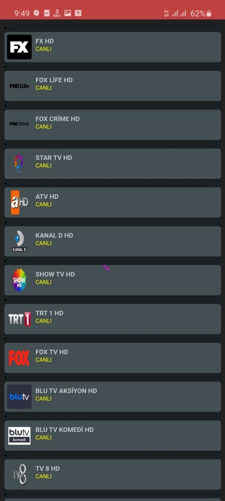 Screenshot of NeTv Gold App