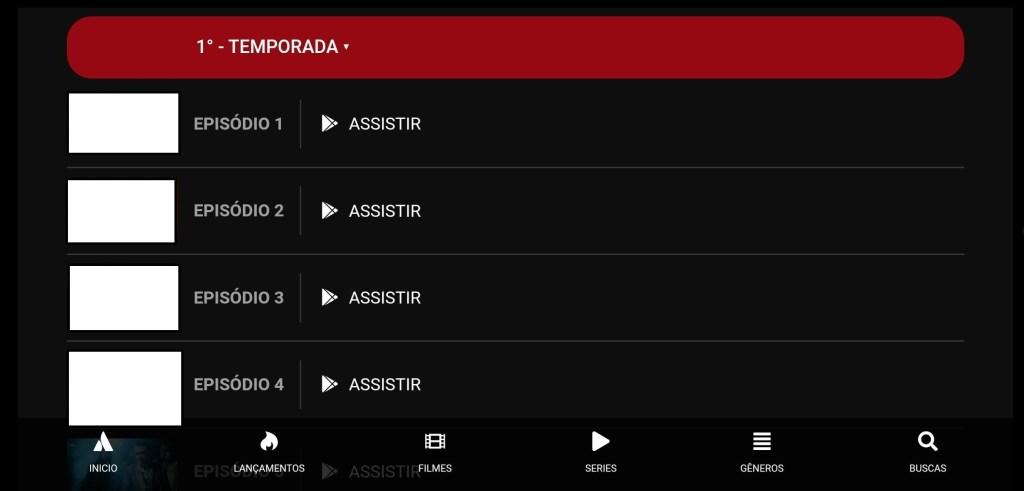 Screenshot of Pobreflix App