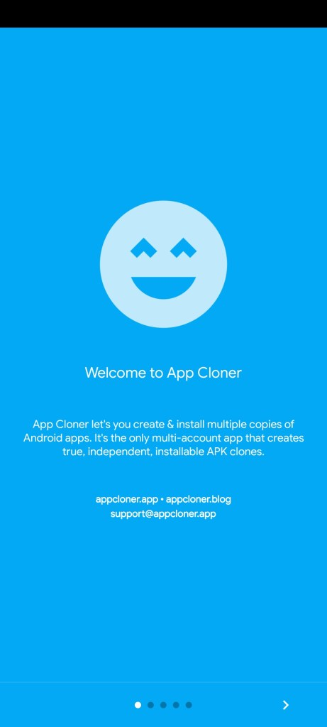 Screenshot of App Cloner Premium