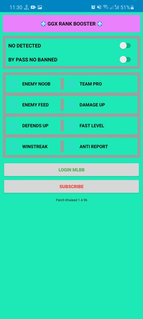 Screenshot of GGX Rank Booster ML