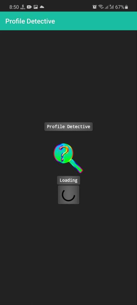 Screenshots of FB Detective App