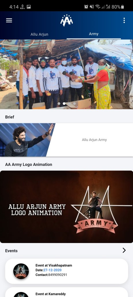 Screenshot of Allu Arjun Army Apk