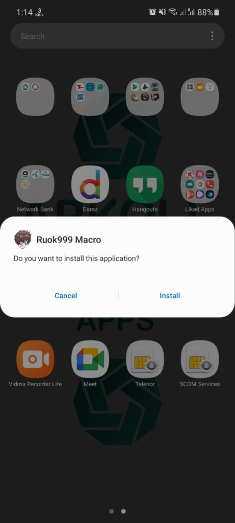 Screenshot of Ruok999 Macro