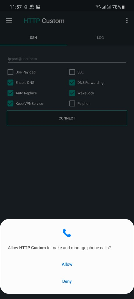 Screenshot of HTTP Custom 234 Download