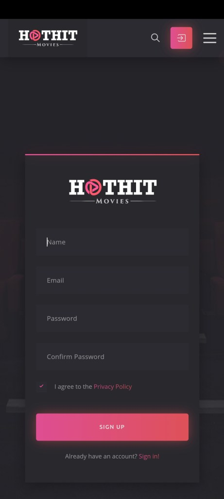 Screenshot of HotHit App