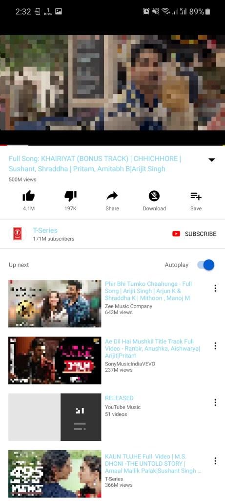 Screenshot of YouTube Blue Download