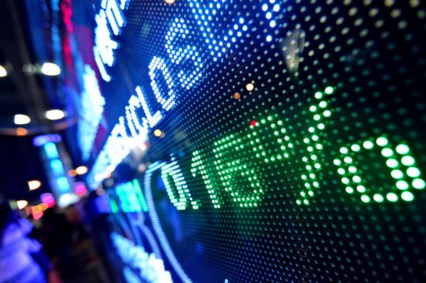stock market price abstract