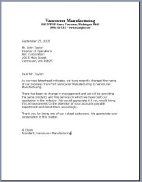 Business Letter Template 8