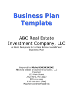 Business Plan Cover Page 2
