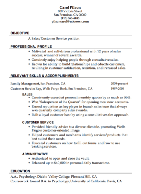 Customer Service Resume Format 13