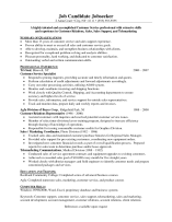 Customer Service Resume Format 2