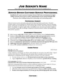 Customer Service Resume Format 6