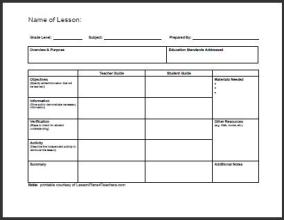 Daily Lesson Plan Template 7
