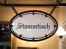 STammtisch the locals' table