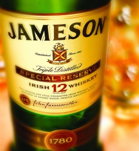 Photo of a bottle of Jameson Whiskey