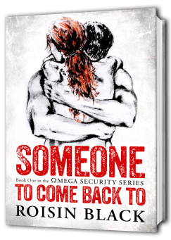 3D representation of book cover for Someone To Come Back To Published by Roisin Black colours in Red, Black and White