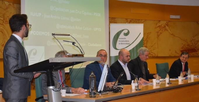 Da comienzo el #debatebiotec en el @CIB_CSIC con los representantes de los principales partidos políticos