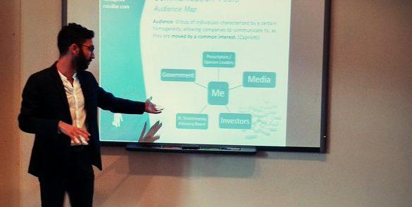 Roi Villar imparte el taller de comunicación para start-ups