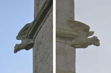 Gargoyles on Shireoaks church