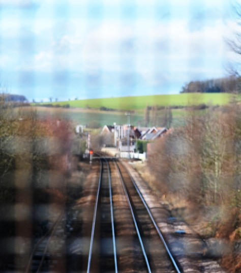 Shireoaks station from Coach Road bridge