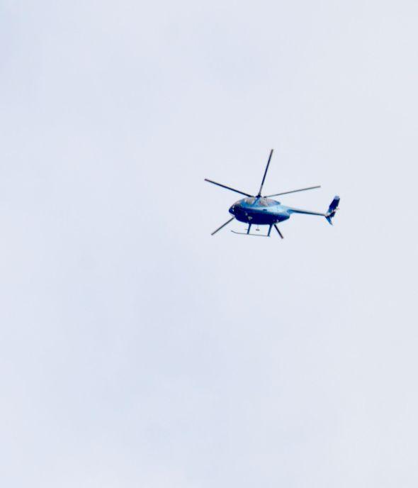 Flashy blue chopper