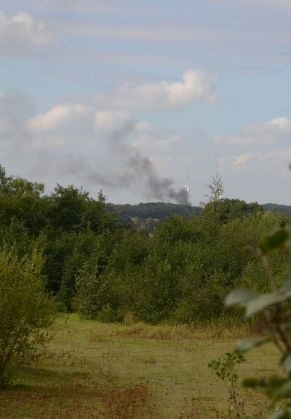 Smoke from Whitwell wood