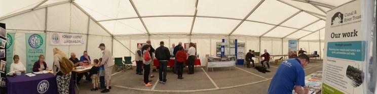 in the sponsors' tent