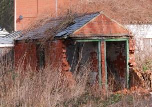 Brick outhouse
