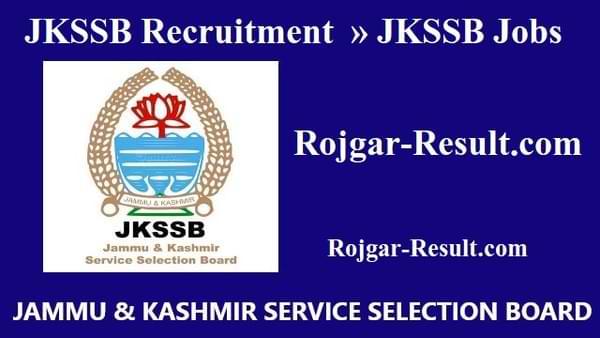JKSSB Recruitment JKSSB Bharti JKSSB Vacancy
