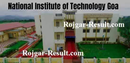 NIT Goa Recruitment NIT Goa Bharti NIT Goa Faculty Recruitment