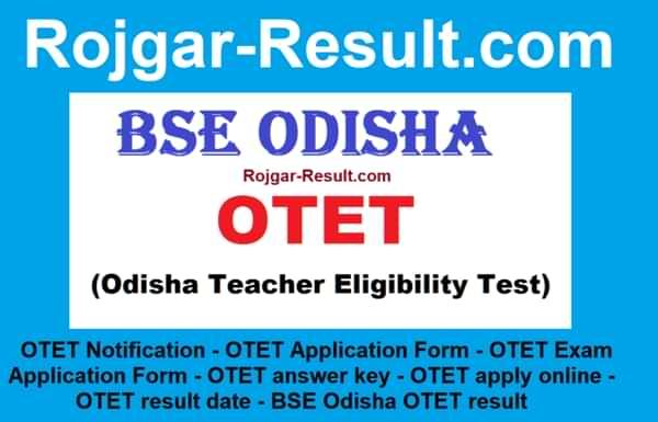 OTET Notification OTET Application Form OTET Exam