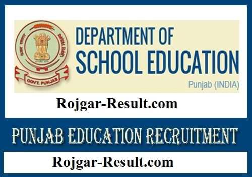 School Education Punjab Recruitment Dept of School Education Punjab Recruitment