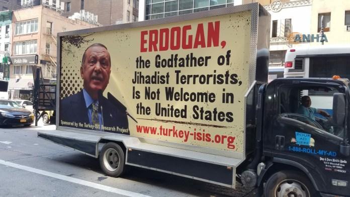 «Erdogan, le parrain des terroristes djihadistes, n'est pas le bienvenu aux Etas-Unis»