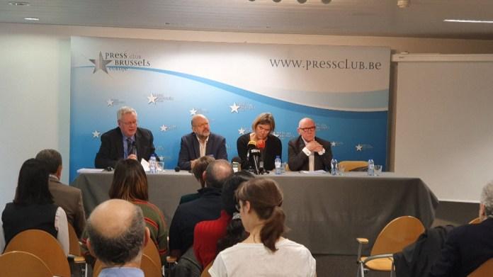 Conférence de presse en Belgique sur la décision de la Cour de cassation belge considérant que le PKK n'est pas une organisation terroriste