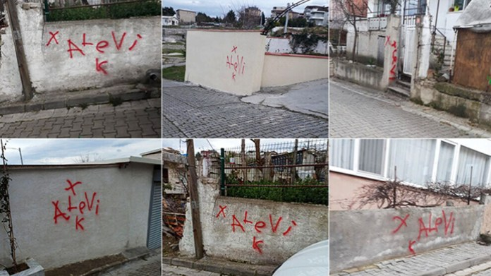 Dans la province de Yalova, dans l'ouest de la Turquie, des inconnus ont marqué les maisons des Alevis avec des croix.