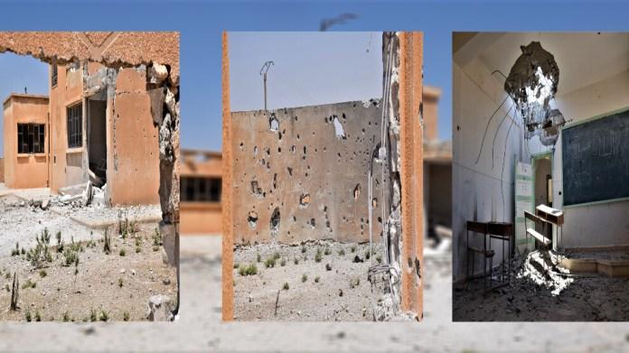 Le village de Gozeliye à Tall Tamr, dans le nord-est de la Syrie, est bombardé par les forces d'occupation turques depuis plusieurs jours. Les villageois ont quitté leurs maisons à cause des bombardements.