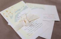 Invitation, RSVP and table place cards.