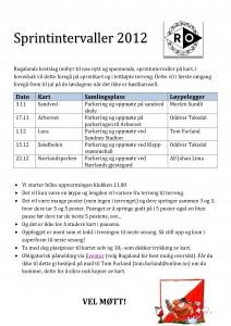Innbydelse til sprintintervaller for høsten 2013 finner du her